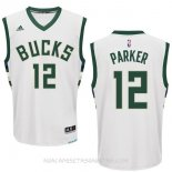 Camisetas Milwaukee Bucks Jabari Parker Blanco
