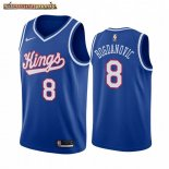 Camisetas NBA Sacramento Kings Bogdan Bogdanovic Azul Throwback