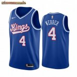 Camisetas NBA Sacramento Kings Chris Webber Azul Throwback