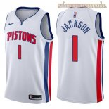 Camisetas Detroit Pistons Reggie Jackson Blanco Association 2017-2018