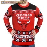 NBA Unisex Ugly Sweater Chicago Bulls Rojo