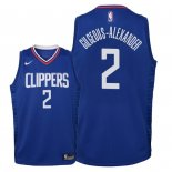 Camisetas Niños Los Angeles Clippers Shai Gilgeous Alexander Azul Icon 2018