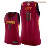Camisetas Mujer Cleveland Cavaliers 2018 Finales Champions Kevin Love Rojo Icon Parche
