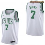 Camisetas Boston Celtics Jaylen Brown Blanco Association 2017-2018