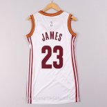 Camisetas Mujer Cleveland Cavaliers LeBron James Blanco