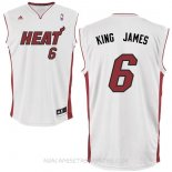 Camisetas Miami Heat King James Blanco