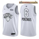 Camisetas 2018 All Star Kristaps Porzingis Blanco