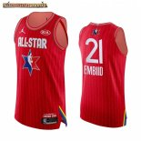 Camisetas 2020 All Star Joel Embiid Rojo