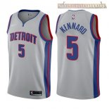 Camisetas Detroit Pistons Luke Kennard Gris Statement 2017-2018