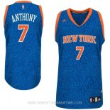 Camisetas New York Knicks Luz Leopardo Anthony Azul