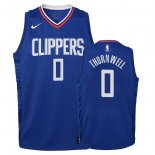 Camisetas Niños Los Angeles Clippers Sindarius Thornwell Azul Icon 2018