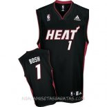 Camisetas Miami Heat Chris Bosh Negro Rojo