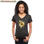 Camisetas Mujer NBA Boston Celtics Negro Oro