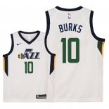 Camisetas Niños Utah Jazz Alec Burks Blanco Association 2018