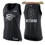 Camisetas Mujer 2018 All Star Russell Westbrook Negro