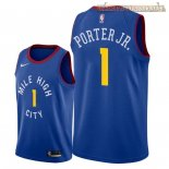 Camisetas Nike Denver Nuggets Michael Porter Jr Azul Statement 2018-2019