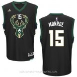 Camisetas Milwaukee Bucks Greg Monroe Negro