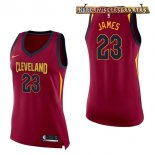 Camisetas Mujer Cleveland Cavaliers LeBron James Rojo Icon 2017-2018