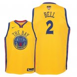Camisetas Niños Golden State Warriors 2018 Finales Champions Jordan Bell Nike Amarillo City Parche