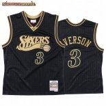 Camisetas NBA CNY Throwback Philadelphia 76ers Allen Iverson Negro 2020