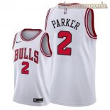 Camisetas Chicago Bulls Jabari Parker Blanco Association 2018