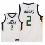 Camisetas Niños Utah Jazz Joe Ingles Blanco Association 2018