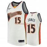 Camisetas Golden State Warriors Damian Jones Blanco Throwback