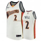 Camisetas Golden State Warriors Jordan Bell Blanco Throwback