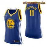 Camisetas Mujer Golden State Warriors Klay Thompson Azul Icon 2017-2018