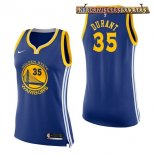 Camisetas Mujer Golden State Warriors Kevin Durant Azul Icon 2017-2018