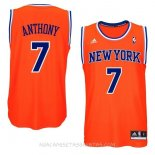 Camisetas New York Knicks Carmelo Anthony Naranja Azul