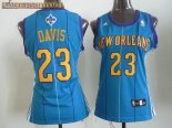 Camisetas Mujer New Orleans Pelicans NO.23 Anthony Davis Azul
