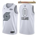 Camisetas 2018 All Star Damian Lillard Blanco