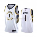 Camisetas Indiana Pacers T.J. Warren Gray Blanco Association 2019-2020