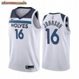 Camisetas NBA Nike Minnesota Timberwolves James Johnson Blanco Association 2019-20