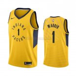 Camisetas Indiana Pacers T.J. Warren Gray Amarillo Statement 2019-2020